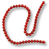 Red Coral Round Beads 3-4mm (16