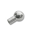 Crimp Tube End with Bead 5x2mm Silver Plated (10-Pcs)