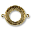 Cosmic Ring Setting 2-Loop 20mm Pewter Antique Gold Plated (1-Pc)