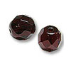 Czech Fire Polished Rounds 4mm Garnet (10-Pcs)