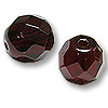 Czech Fire Polished Rounds 8mm Garnet (10-Pcs)