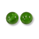 Czech Pressed Glass Round Beads 4mm Emerald (10-Pcs)