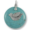 Bail Donut Holder with Bird 31x20mm Sterling Silver (1-Pc)