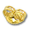 Ear Back Medium Weight 14k Yellow Gold (1-Pc)
