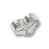 Ear Backs Light Sterling Silver (1-Pc)