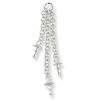 Earring Chain 3 Strand with 3mm Cup & Peg 25mm Sterling Silver (1-Pc)