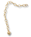 Gold Filled Chain Extender with 4mm Bead (1-Pc)