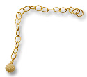 Gold Filled Chain Extender with 4mm Stardust Bead (1-Pc)