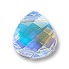 Swarovski Flat Briolette 6012 11x10mm Crystal AB (1-Pc)