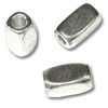 Bead Rectangle 6mm Sterling Silver Plated (12-Pcs)