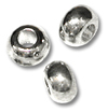 4x2mm Sterling Silver Plated Oval Bead (12-Pcs)