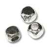Bead Cube 3mm Sterling Silver Plated (12-Pcs)
