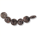 Fossil Jasper Puff Round Beads 15mm (4-Pcs)