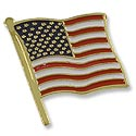 Scatter Pin - American Flag with Clutch 22x19mm (1-Pc)