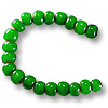 French White Heart Green Bead 6-7mm (20