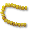 French White Heart Yellow Bead 6-7mm (20
