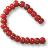 French White Heart Red Bead 6-7mm (20