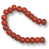 6mm French White Heart Orange Bead (20