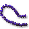 French White Heart Cobalt Bead 6-7mm (20