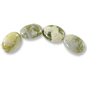Green Cloud Jasper Oval Beads 16x12mm (4-Pcs)