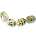 Green Cloud Jasper Oval Beads 18x13mm (4-Pcs)