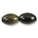 Golden Sheen Obsidian Rice Beads 14x10mm (2-Pcs)