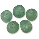Recycled Glass Mint Green Beads 13mm (5-Pcs)