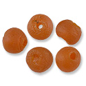 Recycled Glass Beads Orange 10mm (5-Pcs)