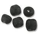 Recycled Glass Beads Black 13mm (5-Pcs)