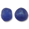 Recycled Glass Cobalt Blue Beads 20mm (2-Pcs)
