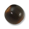 Horn Beads Round Brown 16mm (3-Pcs)