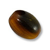 Horn Beads Oval Brown 14.5x12mm (3-Pcs)