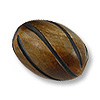 Horn Beads Spiral Carved Oval Light Brown 18x15mm (3-Pcs)