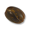 Horn Beads Spiral Carved Oval Brown 14.5x12mm (3-Pcs)