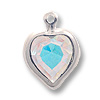 Swarovski Heart Channel 8mm Crystal AB Rhodium Plated (1-Pc)
