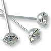 Swarovski Head Pin 1-1/2 inch Crystal Sterling Plated (2-Pcs)