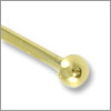 Gold Plated 2 inch Ball End Head Pin 22 Gauge (4-Pcs)