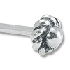 Sterling Silver 2 Inch Bali Style Rope Edge Head Pin 20 Gauge (1-Pc)