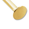 Gold Color 4 Inch Head Pin 21 Gauge (10-Pcs)