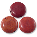Dyed Orange/Red Howlite Disc 25mm (4-Pcs)