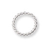 Jump Ring Twisted Round Open 7mm Sterling Silver (4-Pcs)