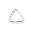 Jump Ring Triangle Open 8x8mm Sterling Silver (2-Pcs)
