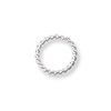Jump Ring Twisted Round Closed 4mm Sterling Silver (4-Pcs)
