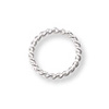 Jump Ring Twisted Round Closed 6mm Sterling Silver (4-Pcs)