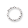 Jump Ring Twisted Round Closed 8mm Sterling Silver (2-Pcs)