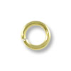 Jump Ring - Open 4mm Gold Plated (100-Pcs)