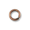 Jump Ring - Open 4mm Antique Copper Plated (100-Pcs)