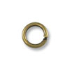 Jump Ring - Open 4mm Antique Brass Plated (100-Pcs)