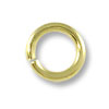 Jump Ring - Open 6mm Antique Gold Plated (100-Pcs)