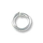 Jump Ring - Open 4mm Silver Plated (100-Pcs)